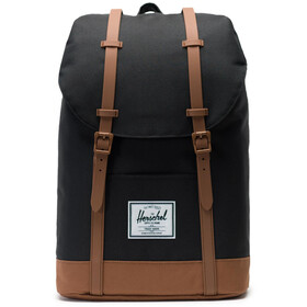 Herschel Retreat Mochila 19,5l, black/saddle brown
